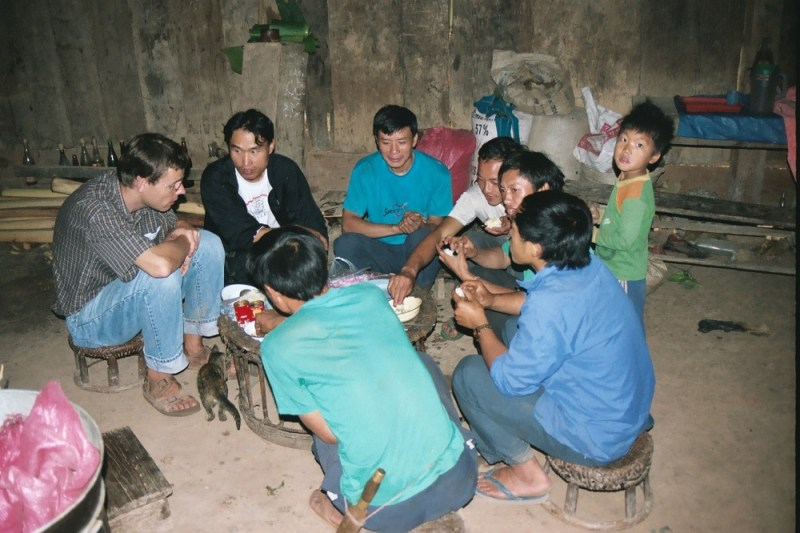 Eating together with Hmong People in Laos