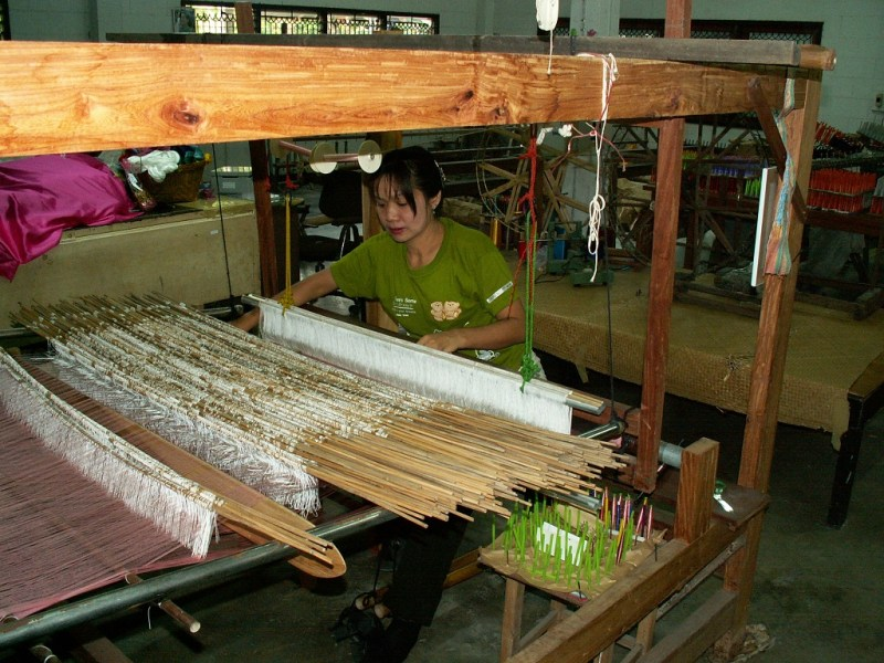 Weaving the Silk into Cloth