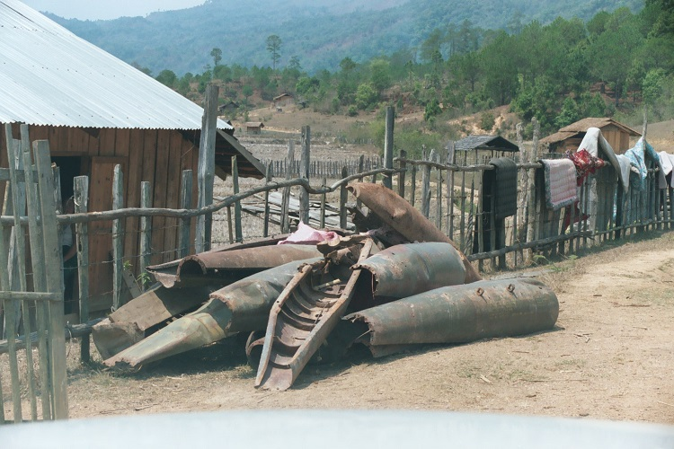 Bomb Casings in Laos in 2005