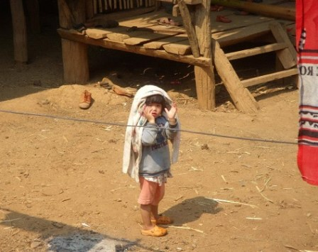 One of the kids from the village