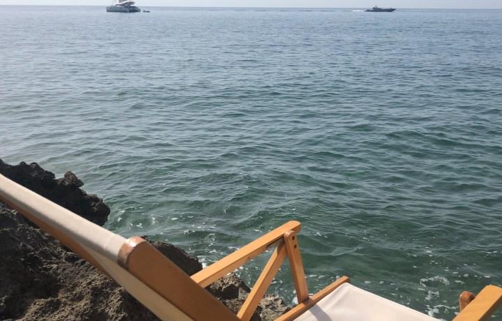beach chair on coast