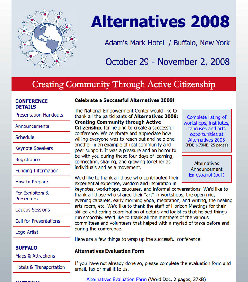 Alternatives 2008