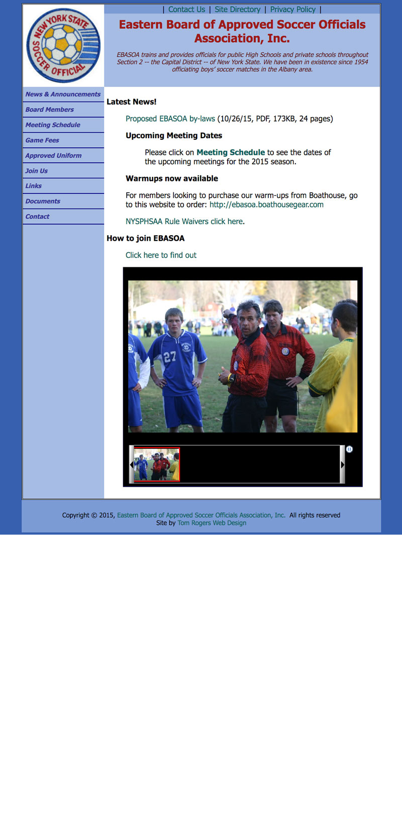 Eastern Board of Approved Soccer Officials Association, Inc.
