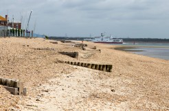 On the shingle at Calshot