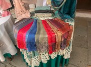 Scarves and lace on display in Burano