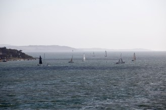 Yachts off Cowes