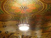 The restored ceiling is gorgeous