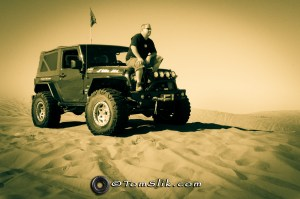 Just me. Hanging with my JK. Sitting at the top of Glamis Oldsmobile Hill. Thinking how lucky I am to be here...