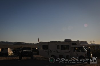 We park the MoHo and set up camp just a short walk from the Trashed Pumpkin Saloon