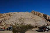 The grand view of rocks from our camp