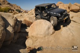 This gnarly Jeep-sized boulder ate up a number of rock-sliders, skid-plates and body-panels
