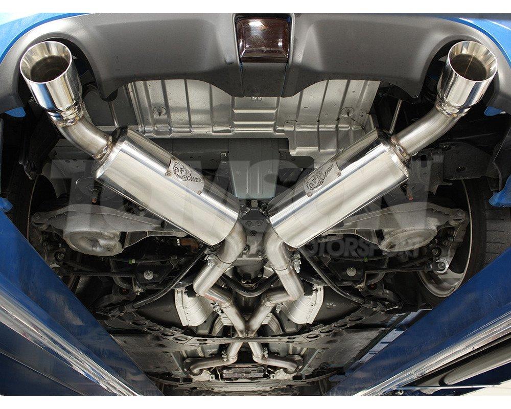 afe power 49 36107 takeda 2 5 cat back exhaust system nissan 370z vq37vhr
