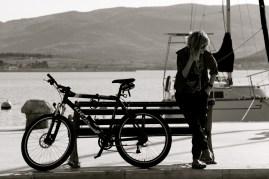 Lady with bike