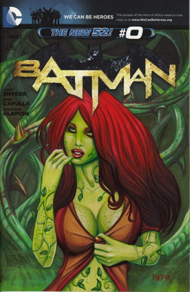 Poison Ivy Sketch Cover Comic Book