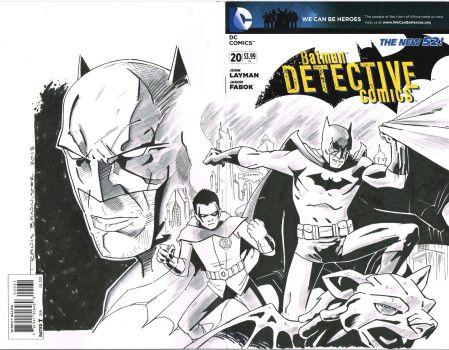 batman and robin custom sketch cover