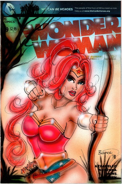 Wonder Woman Comic Drawing