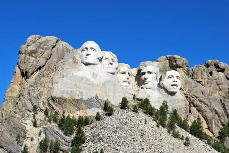 Mount Rushmore with President Obama