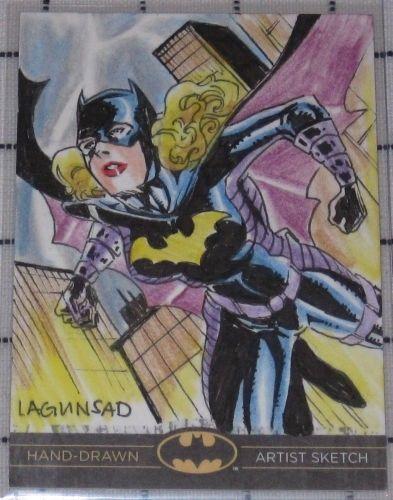 hand drawn art of Batgirl