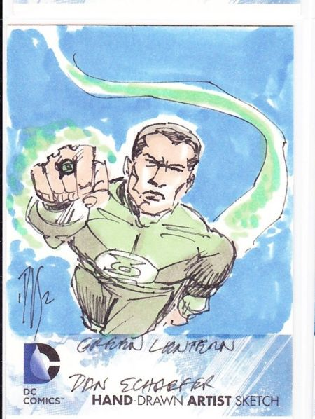 Original Art Card of Green Lantern