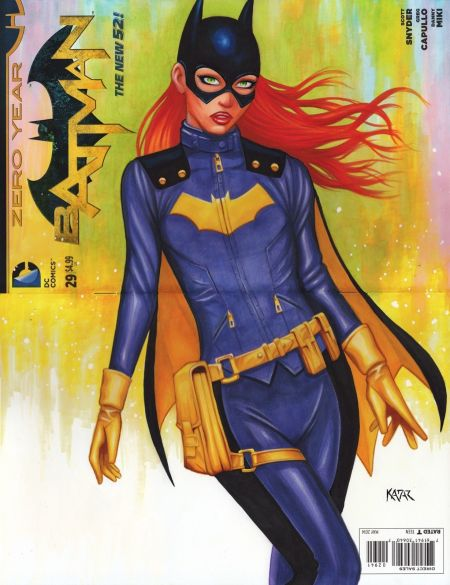 Hand Drawn and Colored Comic Book Cover of Batgirl