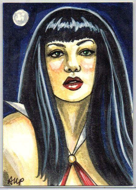Vampirella drawn by Ashleigh Popplewell