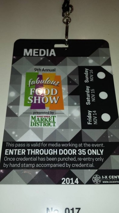Fabulous Food Show #Cleveland #FoodShow #Food #IXcenter #Media #blogging