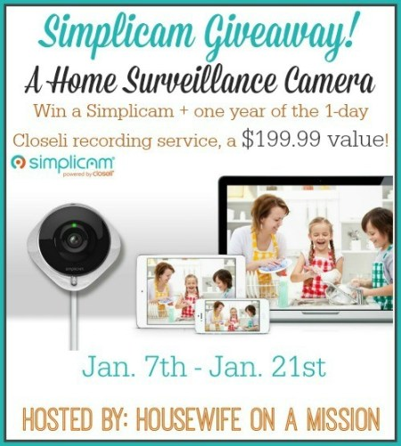 Simplicam Giveaway Sweepstakes