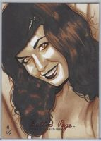 Betttie Page Sketch Card by Jason Reed