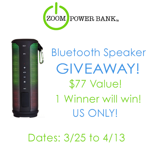 zoom bluetooth speaker giveaway