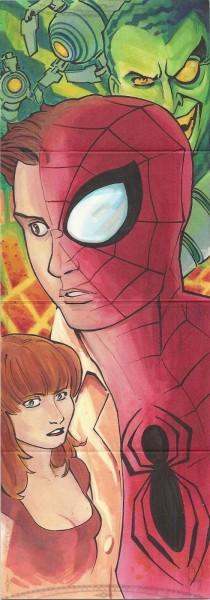 2014 Marvel Premier 7 PANEL SKETCH SPIDERMAN BY ARTIST CHARLES HOLBERT 2