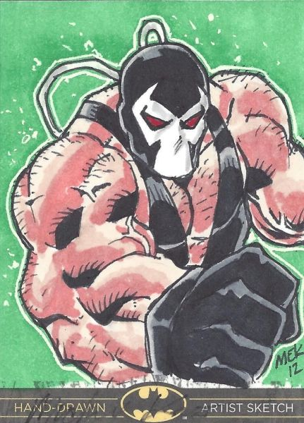 DC Batman the Legend Sketch Card Bane by Michael Kasinger
