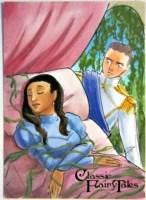 SLEEPING BEAUTY by Stefanie Battalene Sketch Card