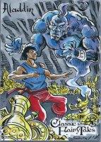 Perna Studios Sketch Classic Fairy Tales Sketch Card Artist Sam Argo Character of Aladdin