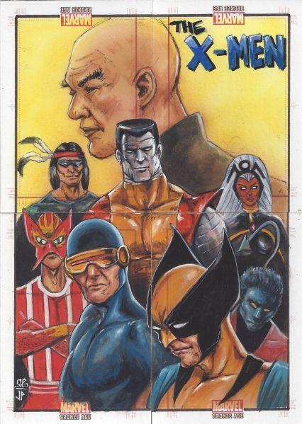 Details about Sketch Jason Potratz / Jack Hai ~ X-Men 4 Card Puzzle ~ EL Marvel Bronze Age