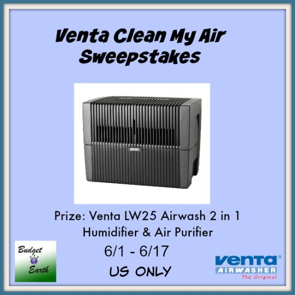 Venta Airwasher Sweepstakes - One lucky reader will win a Venta LW25 Airwash 2 in 1 Humidifier Air Purifier ($349.99 value)