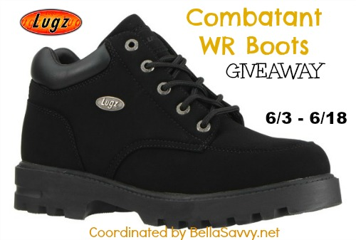 Lugz Combatant WR Boots Giveaway - A Great set of boots that you can win! Enter today!
