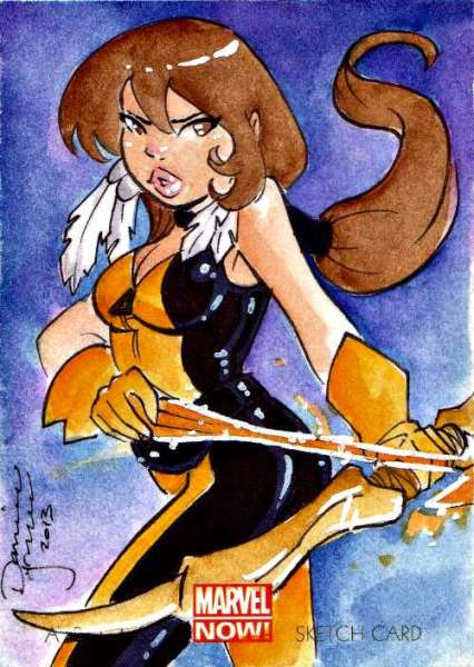 2014 Marvel Comics NOW! Moonstar Sketch Card X-Men Danielle Soloud Gransaull #marvel #moonstar #sketch