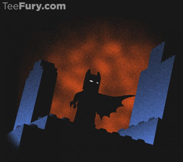 The Brick Knight Custom Graphic T-shirt available at Teefury. Ties in to the classic Batman The Animated Series TV Cartoon we all grew up loving #batman #tshirt #graphictshirt
