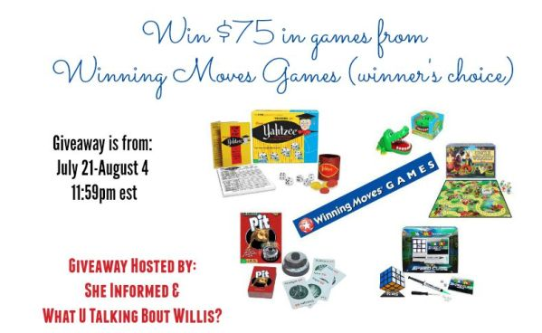 Winning Moves Games Giveway $75 worth of Games with Winners Choice ends 8/4