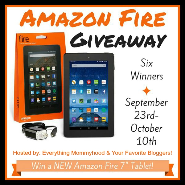 Amazon Fire Giveaway for SIX Winners - Ends 10/10 Amazing opportunity here to win one of six Amazon Fire's in this giveaway brought to you by some amazing bloggers like me.