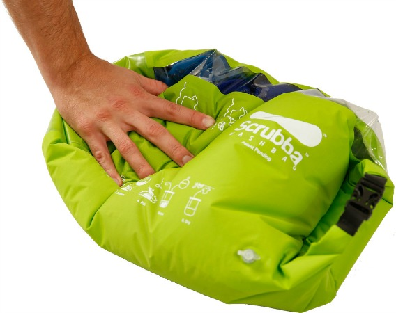 Scrubba Wash Pack - The Travel Day Pack That Washes Clothes, Away from home? No comforts? Need to wash your clothes? Use this mobile pack to get them clean in no time.