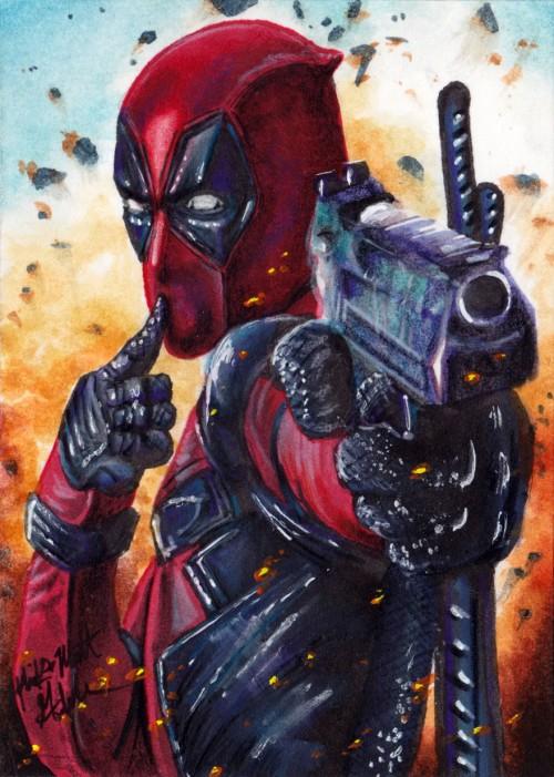 Deadpool Sketch Card