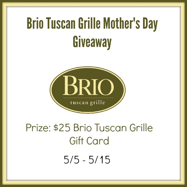 Enter this giveaway to win a BRIO Tuscan Grille $25 Gift Card that I am helping promote here on Tom's Take On Things. Good Luck and thanks for being here.
