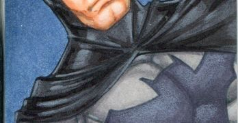 Sketch Card of the Day of Batman by Rhiannon Owens @RhiannonDrewIt