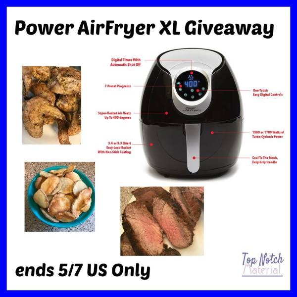 Power Air Fryer XL Giveaway - Ends 5/7