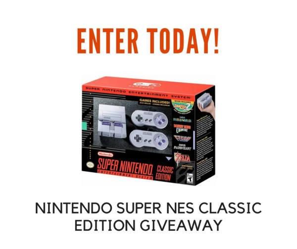 Nintendo Super NES Classic Edition Giveaway Ends 11/28
