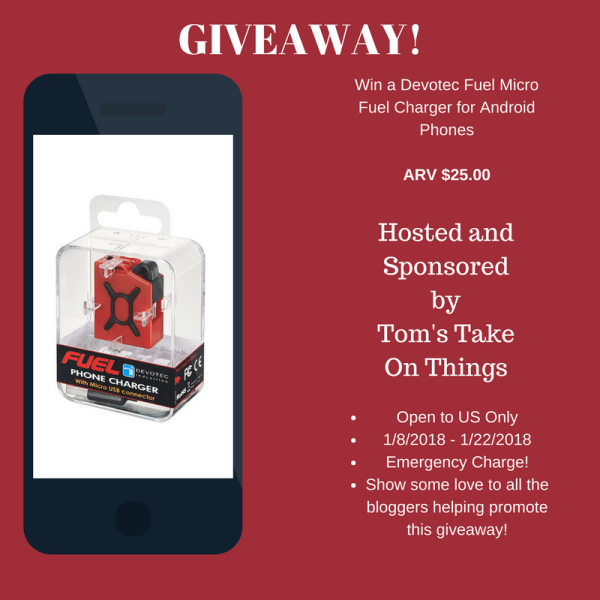 Power for your Android Phone Giveaway ~ ARV $25 Ends 1/22