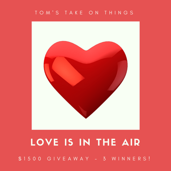 Love is in the Air $1500 Giveaway ~ 3 $500 Prizes Ends 2/28