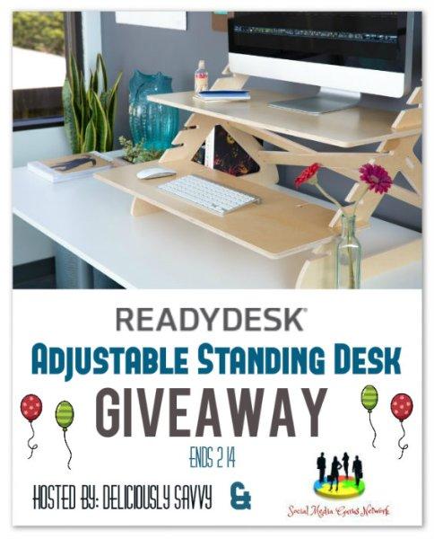 Readydesk ~ Adjustable Standing Desk Giveaway Ends 2/14