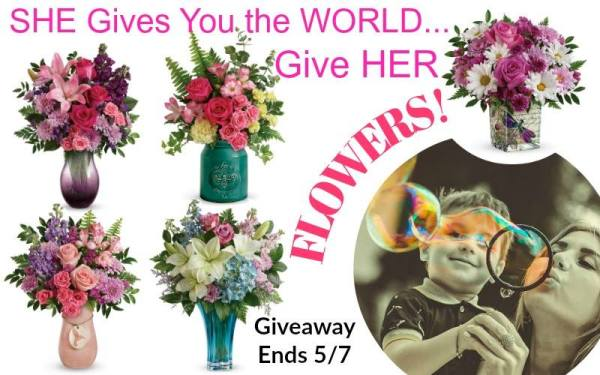 $75 Teleflora eGift Card Giveaway - Perfect Mother's Day Gift Ends 5/7